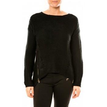 Abbigliamento Donna Maglioni By La Vitrine Pull Laetitia MEM K078 Noir Nero