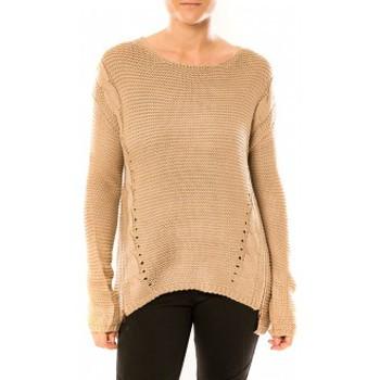 Abbigliamento Donna Maglioni By La Vitrine Pull Laetitia MEM K078 Taupe Marrone