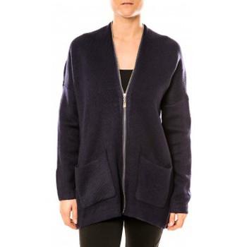 Abbigliamento Donna Tuniche Tcqb Gilet Lely Wood L586 Bleu Blu