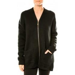 Abbigliamento Donna Gilet / Cardigan Tcqb Gilet Lely Wood L586 Noir Nero