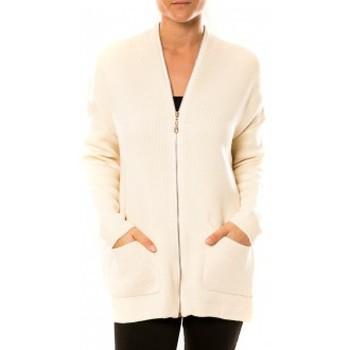 Abbigliamento Donna Gilet / Cardigan Tcqb Gilet Lely Wood L586 Blanc Bianco