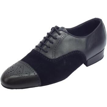 Scarpe Uomo Sandali sport Vitiello Dance Shoes Scarpa da ballo per uomo in nappa e nabuk nero tacco 2cm Nero