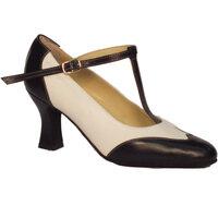 Scarpe Donna Décolleté Vitiello Dance Shoes Scarpa da donna per ballo standard capretto bianco e nero Bianco-Nero