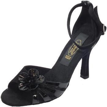 Sandali Vitiello Dance Shoes  Scarpa da donna per ballo tango in camoscio e verniciato nero ta
