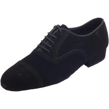 Scarpe Uomo Sandali sport Vitiello Dance Shoes Scarpa da ballo per uomo in nabuk nero tacco 2cm Nero