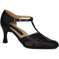 Scarpe Donna Décolleté Vitiello Dance Shoes Scarpa da donna per ballo standard nappa e rete colore nero Nero