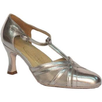 Scarpe Vitiello Dance Shoes  Scarpa da donna per ballo standard nappa e rete colore argento
