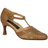 Scarpe Donna Décolleté Vitiello Dance Shoes Scarpa da donna per ballo standard nappa e rete colore beige Beige