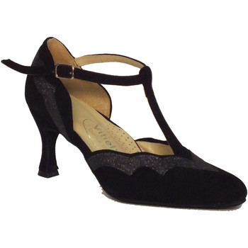 Scarpe Vitiello Dance Shoes  Scarpa da donna per ballo standard in camoscio e cristal fine co