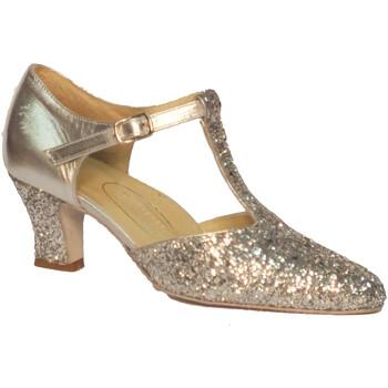 Scarpe Donna Décolleté Vitiello Dance Shoes Scarpa da donna per ballo standard capretto e cristallo colore a  la pelle di capretto nel colore argento è utilizzata nella part