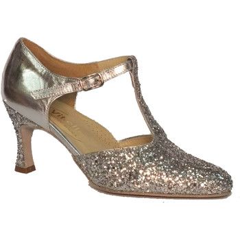 Scarpe Vitiello Dance Shoes  Scarpa da donna per ballo standard cristallo colore argento
