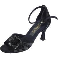 Scarpe Donna Sandali Vitiello Dance Shoes Scarpe da ballo tango per donna in camoscio e verniciato nero ta Nero