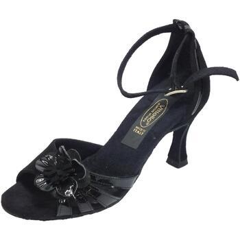 Sandali Vitiello Dance Shoes  Scarpe da ballo tango per donna in camoscio e verniciato nero ta