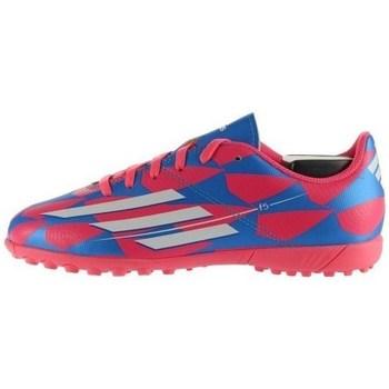Scarpe Unisex bambino Sneakers basse adidas Originals F5 TF J Bianco-Azzuro-Rosa